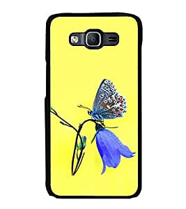 Printvisa Ultra Butterfly on a Flower 2D Hard Polycarbonate Designer Back Case Cover for Sams...