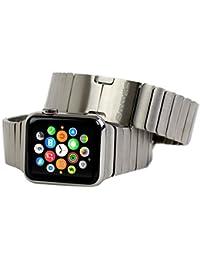 Pulsera de Eslabones Apple Watch (38mm), Snugg™ - Correa de Acero Inoxidable Para el Apple Watch (Garantía de Por Vida)
