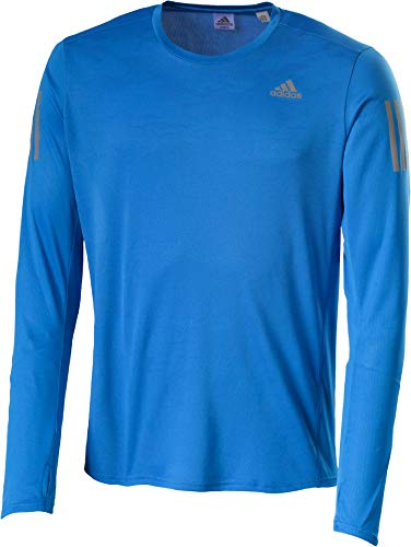 adidas Herren Response Langarm T-Shirt, Bright Blue, L (Crewneck Grafik T-shirt Herren)