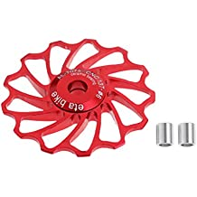 Gazechimp 13T Rodamiento de Cerámica Jinete de Rueda de Polea Bicicleta de Trasera Desviador de Cambios ASIAL - rojo