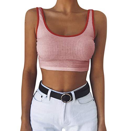 Damen Tanktop Piebo Frauen T-Shirt Ärmellose Bluse Camisole Tank Tops V-Ausschnitt Shirt Outdoor Sport Fitness Running Training Sommer Casual Weste Mode 2019