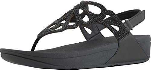 FitFlop™ - BUMBLE ™ CRYSTAL SANDAL BLACK Black