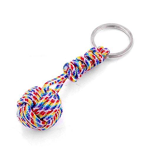 Achun - Llavero de Cuerda de Tejido Creativo de poliéster, Llavero, Llavero, Regalo