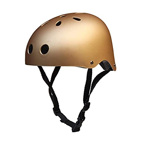 Bike Skate Helmet - Kingwo Adult Kids Skateboard Helmet Impact resistance Ventilation for Multi-sports Cycling Skateboarding Scooter Roller Skate Inline Skating Rollerblading Longboard Two W (Gold,