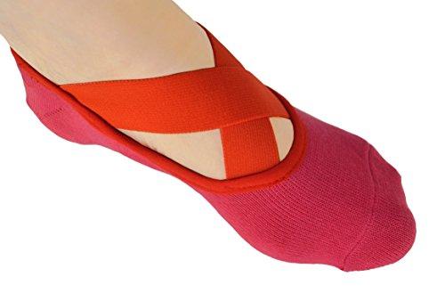 Dancina Anti-Rutsch Socken für Yoga Pilates Barre (Einheitsgröße) Pink