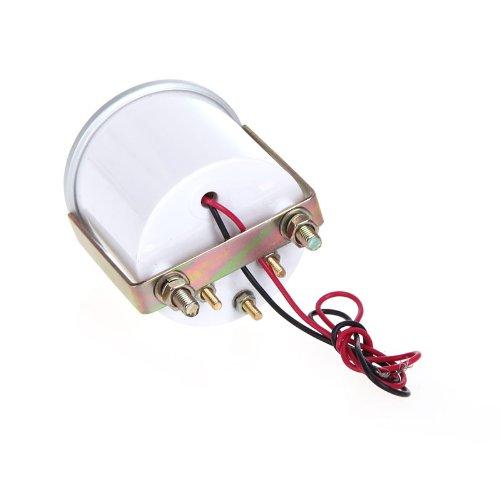 Kingzer Infrarot-Empfänger (5.08 cm 52 mm Voltage Meter Voltmeter Messgerät für Auto, 16V, Blau, 8 LED DC, 12V
