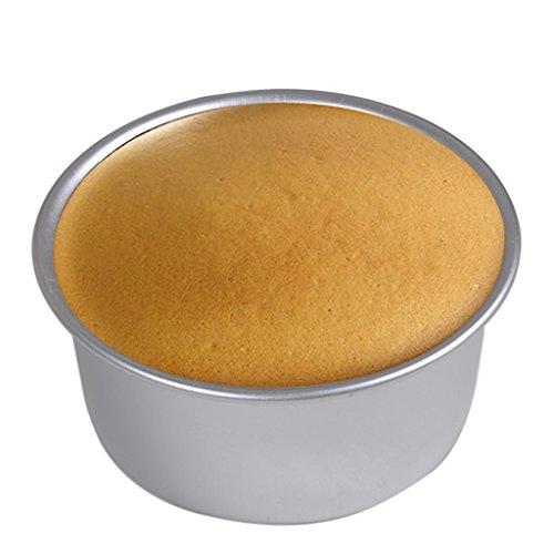 Ansel's Aluminum Sandwich Cake Baking Tin Pan Mould Box Round Deep Loose Base Bottom (6 Inch)