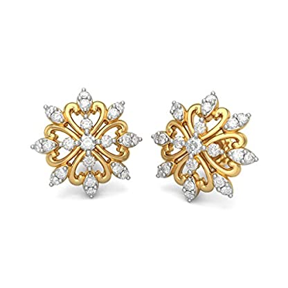 BlueStone 18K Yellow Gold and Diamond Cole Earrings