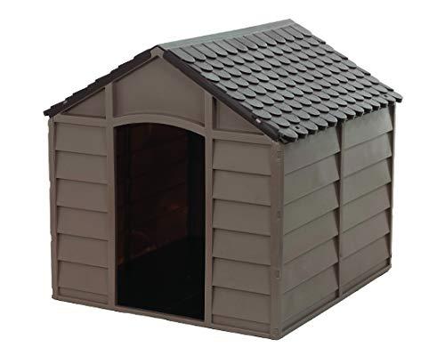 cuccia per cani taglia media in resina pvc smontabile tetto marrone