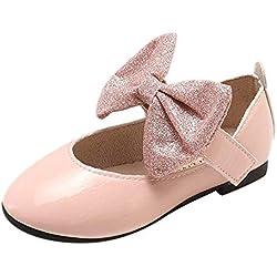 Chica Calentar Botas De Nieve Niños Invierno Botines Ante Anti-Deslizante Zapatos Botas de Trabajo Zapatos Calientes Bling Zapatos de Invierno cálido by SunGren(Rosado,EU:31)