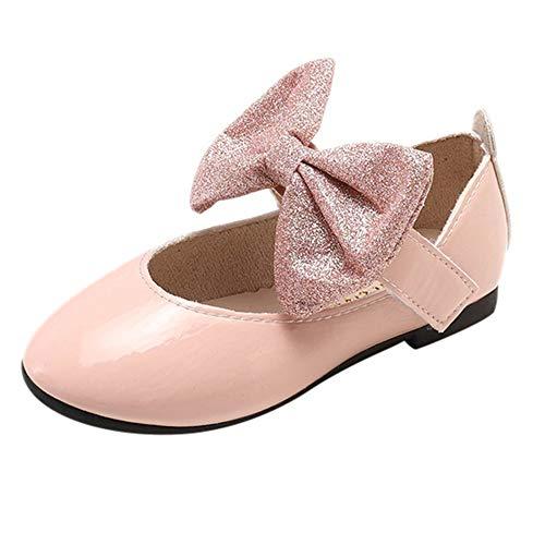 d8fc46b6d ZODOF Bebé Niños Zapatos Lindos Niños Niñas Bling Bowknot Soltero Zapatos  Casuales(Beige,Negro