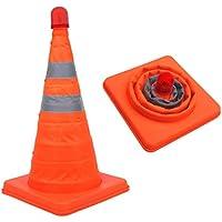 Kit de 5 conos plegables base caucho Tela reflectante 45 cm altura