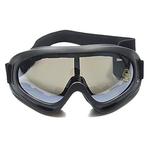 Supertrip TM Outdoor-Skibrillen Winddichtes Brille Schutzbrille Snowboardbrille Motorradbrillen Bikebrille Militärschutzbrillen Color Grau