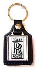 Idea Regalo - Print Corner - Portachiavi Luxury in Acciaio/Similpelle Rolls Royce