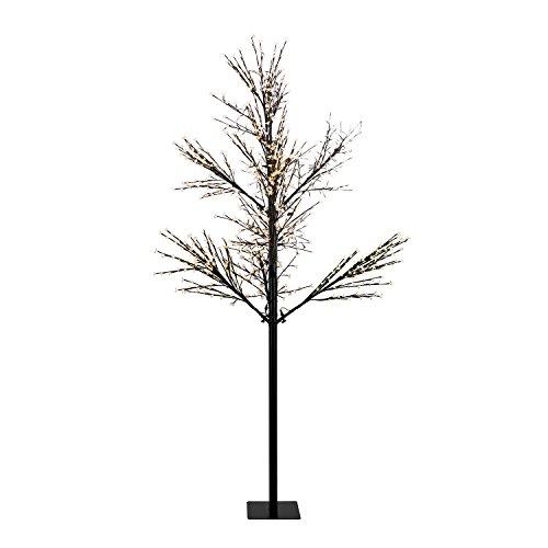 Blumfeldt - albero luminoso hanami, 600 luci a led, luce bianca calda schwarz - ww 300 kirschblütenform