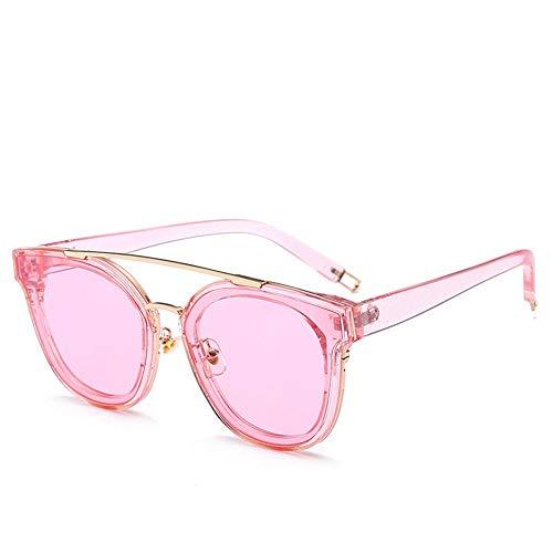 MJ Glasses Sonnenbrillen PC Männer und Frauen wunderschöne Sommerjugend codierte durchscheinende Brille, A