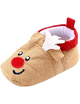 Babyschuhe Lauflernschuhe Krabbelschuhe Weihnachten Baby Kleinkind Infant Schnee Stiefel Weiche Sohle Prewalker...