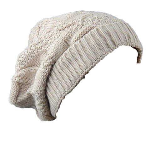Quistal Mode Femme Hommes Chapeau d'Automne-Hiver | Bonnet Keep Warm en Laine Tricotée | Couleur Pure, Confortable