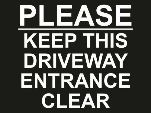 please-keep-this-driveway-entrance-clear-sign-300mm-x-200mm-x-4mm-black-white