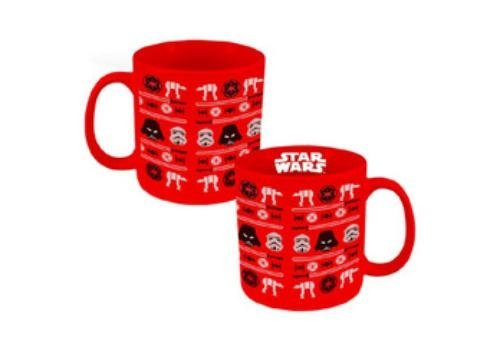 Star Wars Vandor 99662 Ugly Sweater Holiday Ceramic Mug, 20 oz, Red (Holiday Red Sweater)