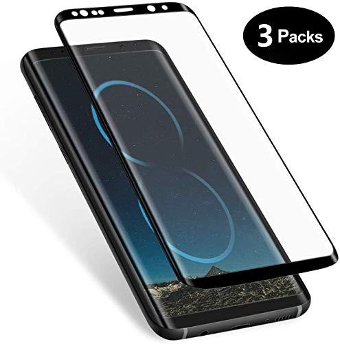 WHJC [3 Stück] Galaxy S8 Panzerglas Schutzfolie, Premium 9H Härtegrad Gehärtetem Glas Displayschutzfolie, Blasefrei, Ultra Klar Glatt, Anti-Kratzer, für Samsung Galaxy S8