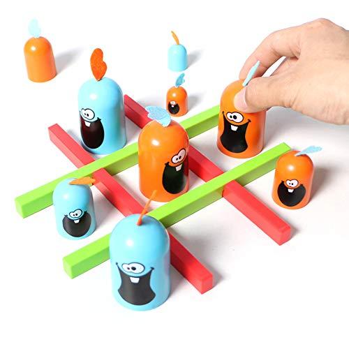 mAjglgE 12 Stück Cartoon-Gobblet Gobblers Schachbrettspiel Interaktives Kinderspielzeug