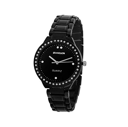 Grandson Black Casual Analog Watch For Girl's And Women