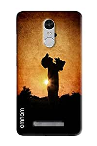 Omnam Sepia Printed Boy Playing With Ball Effect Printed Designer Back Cover Case For Xiaomi Redmi Note 3