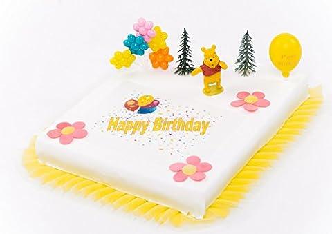 Décoration Gâteau Winnie l'Ourson anniversaire d'enfant 9pièces gâteau aufleger gâteau décoration gâteau anniversaire d'enfant pour jeune fille