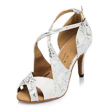 Chaussures De Danse-personnalisable-womens-latin Dance / Jazz / Baskets De Danse Modernes / Modern-square-leather-black / Black