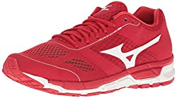 Mizuno Mens Synchro Mx Baseball Shoe, Red/White, 10 D US