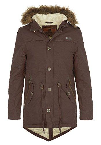 INDICODE Polar - Parka d'hiver – Homme Dark Brown (020)