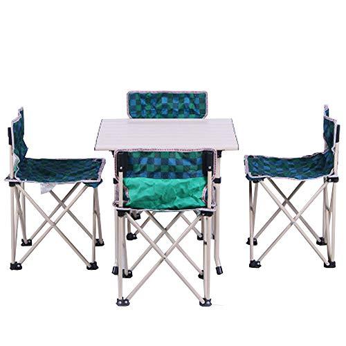 CHENGGUO Table Pliante portative extérieure et Ensemble de 5 chaises, Table et chaises détachables à la Maison, Camping extérieur et Table Pliante portative Multifonction Portable