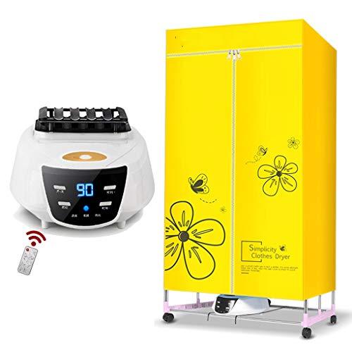 Zzqzzq asciugatrice elettrica asciuga biancheria ad aria calda stendino asciugabiancheria telecomando pieghevole in materiale inossidabile per uso domestico con grande capacità 30 kg