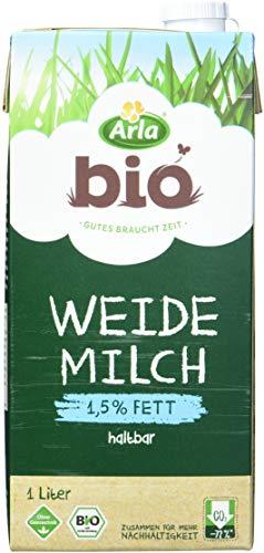 Arla BIO Weidemilch haltbar 1.5% Fett, 12er Pack (12 x 1 l) Milch