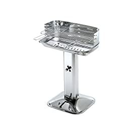 Ompagrill 36573 Barbecue Carbone 60-40 Venus INOX60430