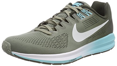 Nike Women's W Air Zoom Structure 21 Running Shoes, Grey (Dark Stucco Pure  Platinumsequ