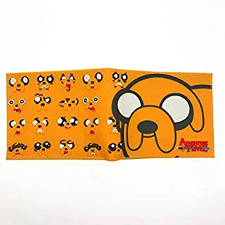 SWVV Anime Comics Cartoon Adventure Time Wallet Jake The Dog Purse With Card Holder ATW 003