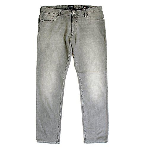 Armani Jeans Herren J06taillierter U6J833C, grau Stretch Baumwolle Jeans ajm2019