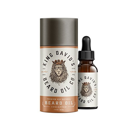 King David's Beard Oil Co. All Natural Unscented Beard Oil 1 oz