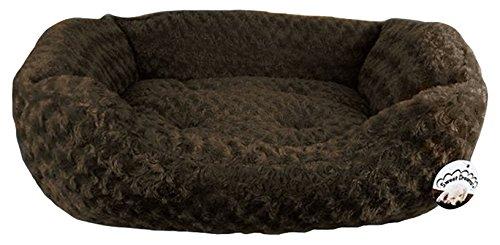 Duke Kunstfell Pet Bett, groß, Schokolade
