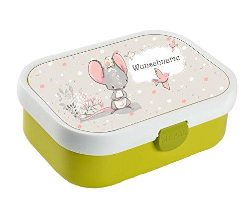 wolga-kreativ Brotdose Lunchbox Kinder süßer Maus mit Namen Mepal Lunchbox für Kinder personalisiert (Kreative Kinder)
