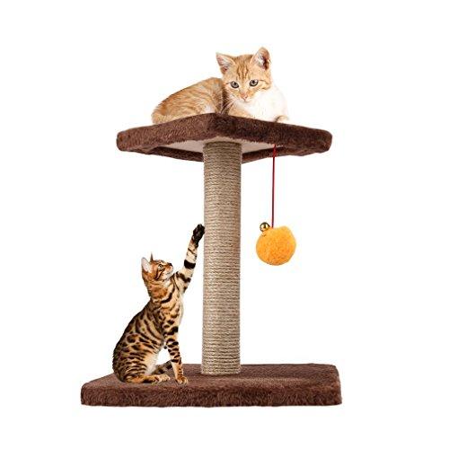 Yks- tiragraffi per gatti arrampicata telaio giocattolo con forma a sfera campana giocattolo gatto tiragraffi cat scratch board jumping training toy