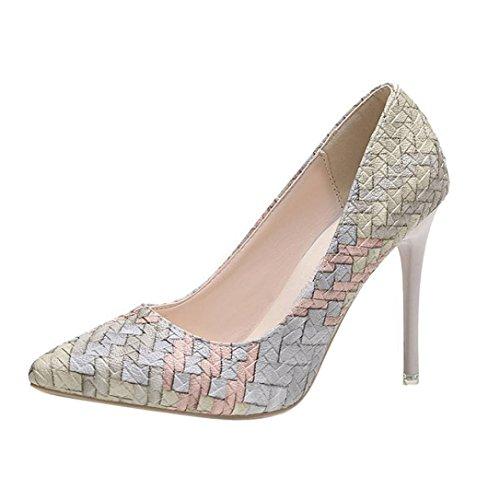 26fd7c76c1a Tacones de mujer Covermason Moda tacones finos Zapatos colores mezclados  Tacones bajos Zapatos(