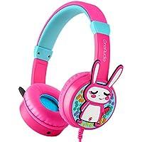 OneOdio Kinder Kopfhörer Gehörschutz 85 db mit Lautstärkebegrenzung & Musik Teilen Funktion Dreidimensional Kaninchen Kinderkopfhörer On Ear Headset 3.5mm Kabelgebundene Leicht Kopfhörer