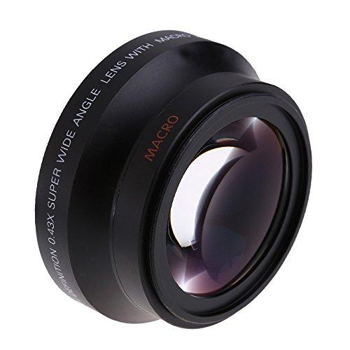Andoer® 67mm Digital High Definition 0.43 × Potente Obiettivo Grandangolare con la Macro Giappone Ottica Canon Rebel T3i T5i T4i 18-135mm 17-85mm e Nikon 18-105 70-300VR