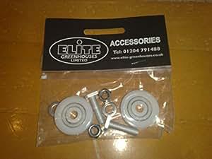 Elite Greenhouse Door Wheels - 28mm diameter