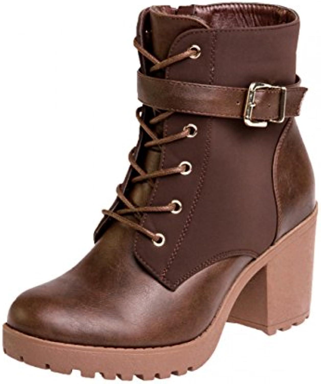 Damen Vintage Plateau Stiefeletten SBO064 - 2018 Letztes Modell  Mode Schuhe Billig Online-Verkauf