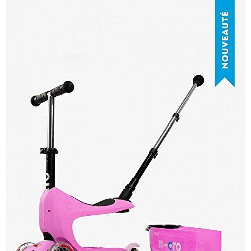 Micro–Patinete mini2go Deluxe Kickboard con asiento y cajón en color...