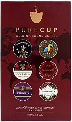 PureCup - Origin Ground Coffee Gift Set - 6 Origins | 75g Each from Purecup